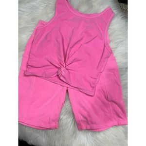 Kohl's So biker shorts pink outfit Size Small